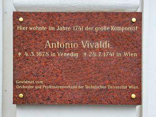 Vivaldi Gedenktafel